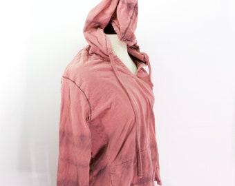 Upcycled Tie Dye Womens Hoodie OOAK Top