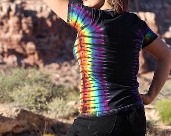 Tie Dye Tee Shirt, Rainbow T-Shirt, 70's Clothes, Trippy Tee