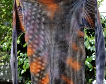 Tie Dye Kids Small UPCYCLED Thermal Long Sleeve Trippy Hippie Warm WInter Top
