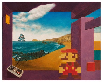 Original Art Print, Modern Art Print, Psychedelic Artwork, 8-bit Painting