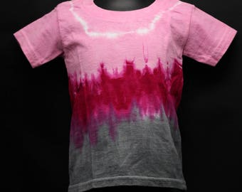 Tie Dye Kids T-Shirt, Trippy Children's Top, Cute Pink Hippie Toddler Tee
