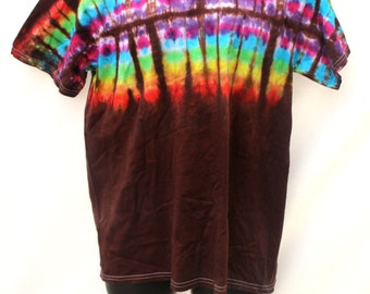 Tie Dye Shirts, Custom Order Top, Hippie Rainbow T-Shirt, Festival Clothes, Dead Head Clothing