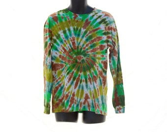 Tie Dye Long Sleeve, Psychedelic Mens Log Sleeve Shirt, Trippy Winter Top
