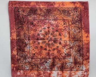 Tie Dye Bandana, Trippy Psychedelic handkerchief, Hippie Fashion