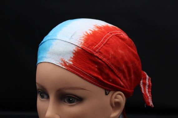 USA Red White Blue Patriotic America Eagle Doo Rag Biker Durag Headwrap Bandanna