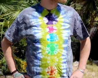 Tie Dye Tee Shirt, Mens T-Shirts, Chakra Shirt, Yoga Clothing, Zen Clothes