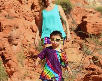 Tie Dye T-Shirt, kids clothing, rainbow shirt, trippy hippie clothes