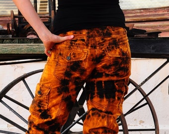 Tie Dye UpCycled Size 5 Capris