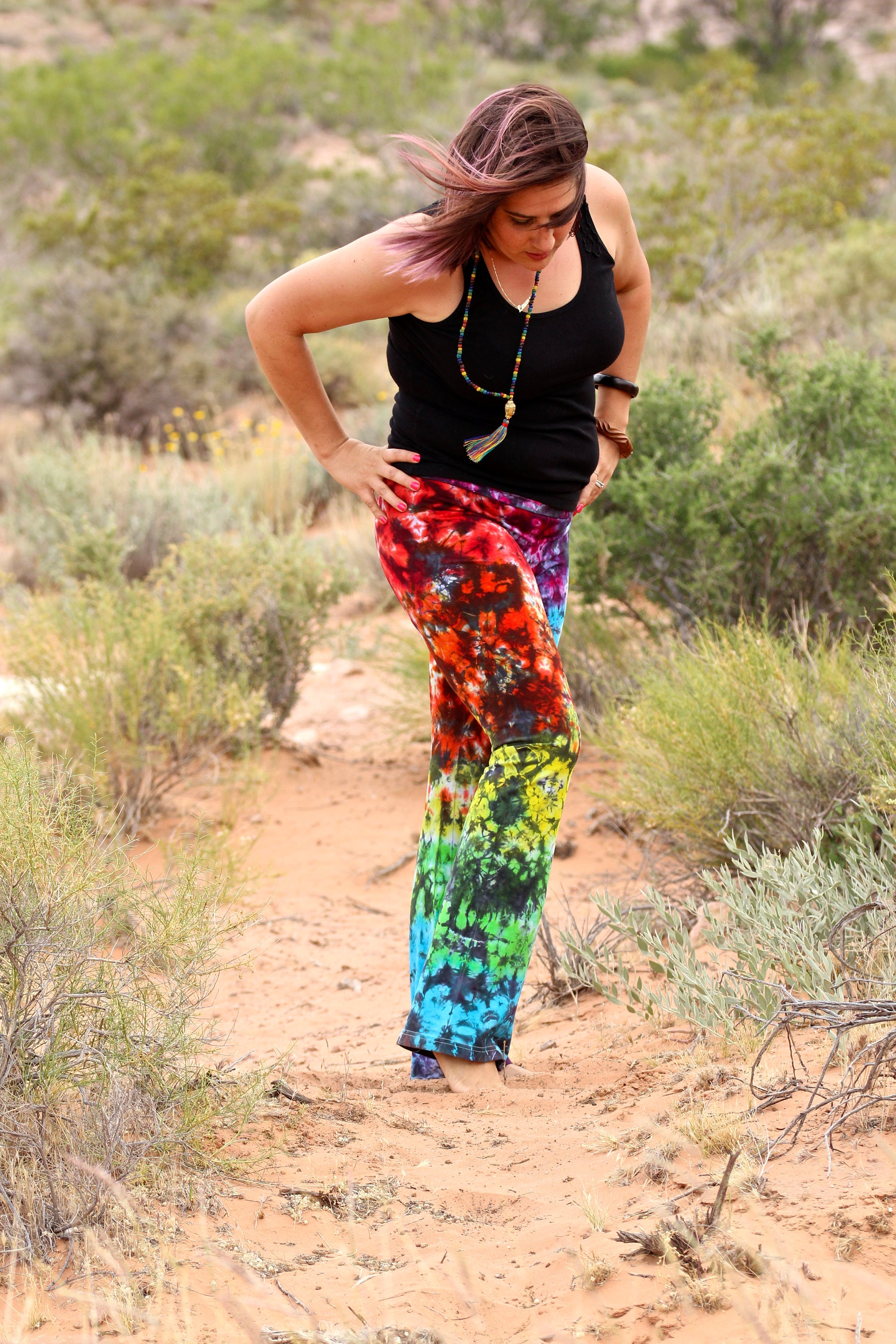 Tie Dye Yoga Pants Trippy Workout Clothes Rainbow Hippie American Apparel Workout Pants Rainbow Galaxy Loungewear