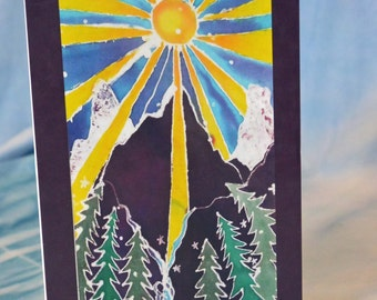 Blank Greeting Card with Original Batik Artwork