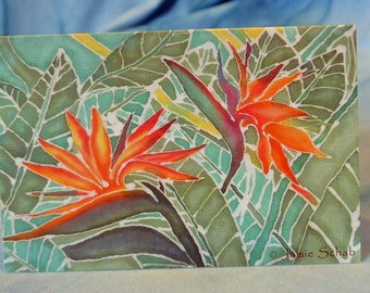 Batik Greeting Card Blank Card Original Artwork