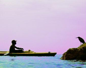 Travel Photography-12x18 Print-Jamaican Salesman-12x18-Jamaica-Ocean-Bird-Surreal-Caribbean
