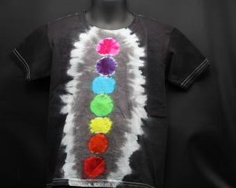 Tie Dye Kids T-Shirt, Trippy Zen Children's Top, Cute Chakra Hippie Toddler Tee