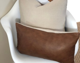French Roast Brown Chevron Pillow