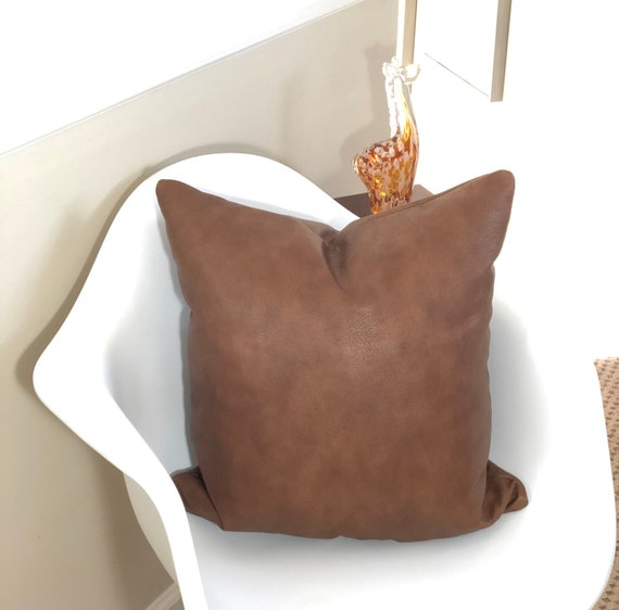 Genuine Leather Pillow Cover Leather Front And Back Etsy