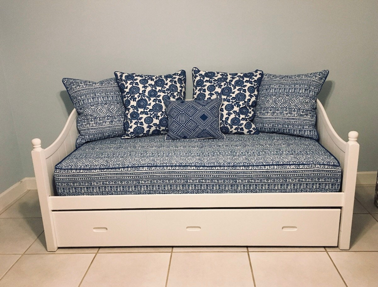 - Fitted Daybed Cover With CORDING/PIPING In Twin, Twin Xl Or Full