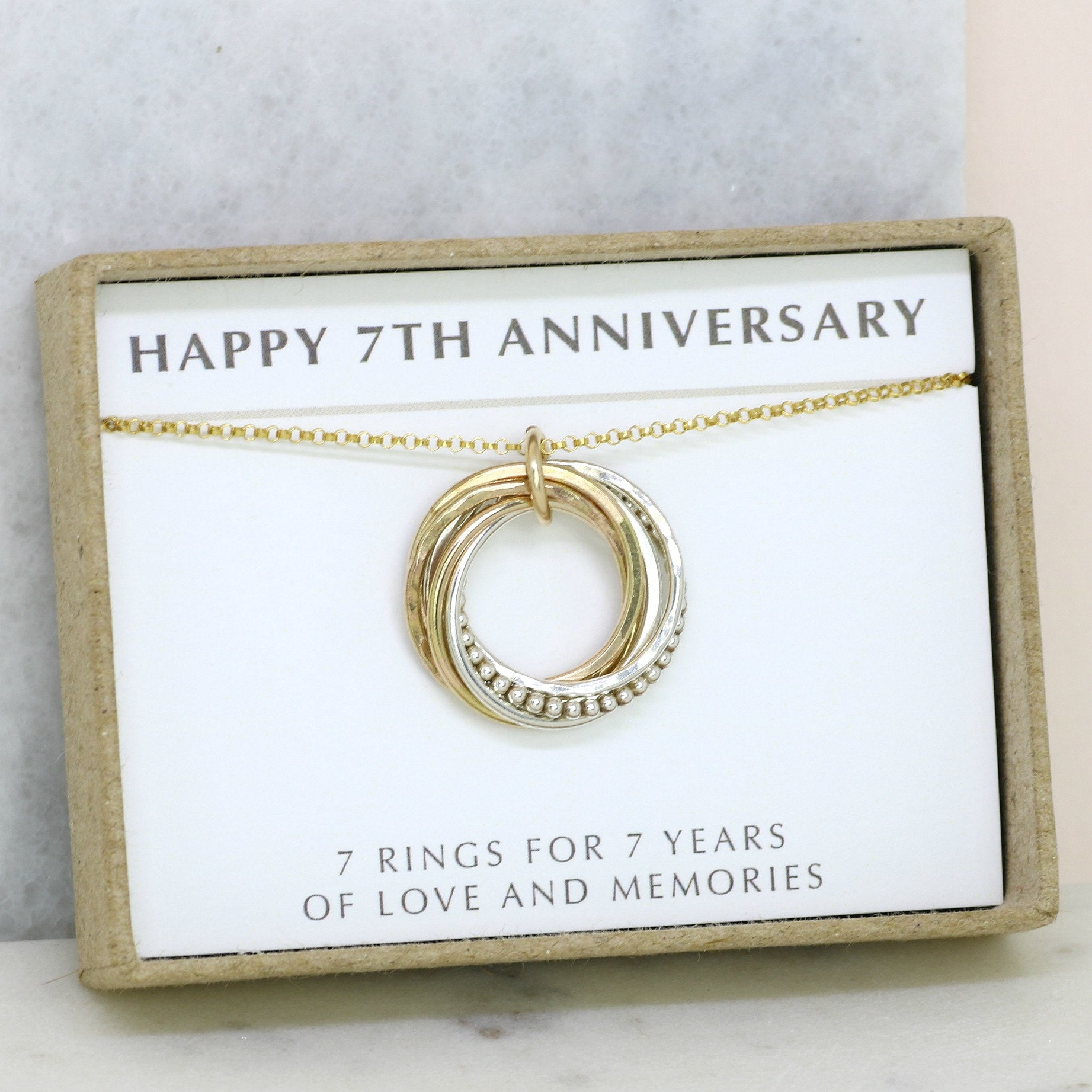 7th anniversary gift, meaningful gift for wife, 7 year wedding ...