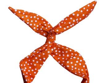 Top Knot Headband, Turban Headband Boho, Wire Headband, Orange Headband, Yoga Headband, Baby Headband, Toddler Headband, Top Knot, Head Wrap