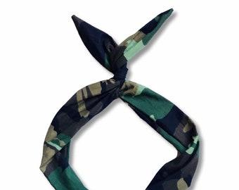 Camo Print Wire Headband
