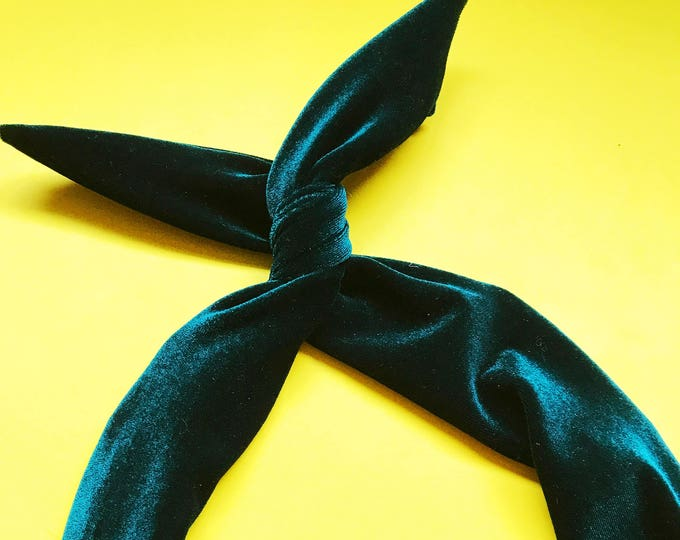 Featured listing image: Emerald Green Velvet Wire Headband by Byrd