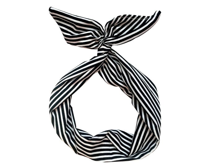 Featured listing image: Black and White Stripe Wire Headband
