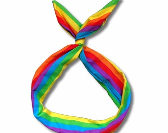 Rainbow Stripe Wire Headband