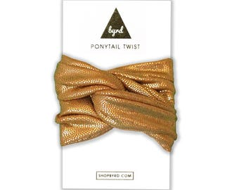 Ponytail Wrap, Bun Wrap, Hair Accessories, Gold Ponytail Wrap, Wire Hair Wrap, Gift for her, Hair Twist, Gold Hair Accessories, Top Knot