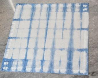Shibori Cotton Napkin - Grid pattern