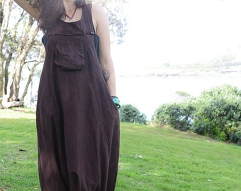 Funky Unisex Overalls, Pure Cotton Overalls, Loose Fitting, Handmade Maternity Trousers, Harem Jumpsuit, Men Baggy Overall,FREE SHIPPING