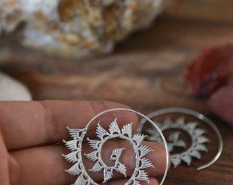 Boho Spiral Earrings,Boho Earrings, Ethnic Earrings, Gipsy Earrings, Indian Earrings, Bohemian Earrings, Yoga Jewellery