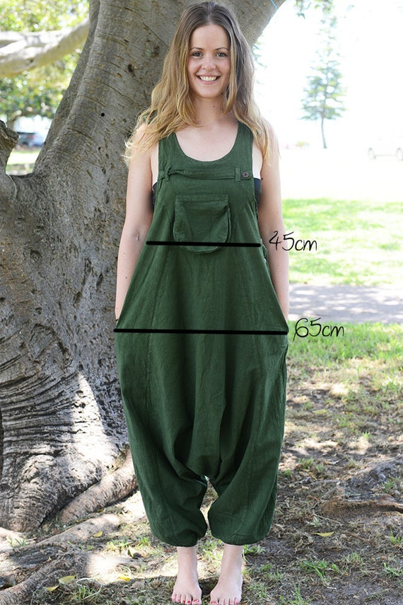 2dd11245ec929 Funky Unisex Overalls Pure Cotton Overalls Loose Fitting