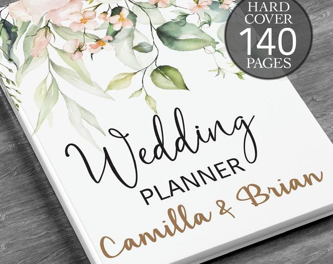 Wedding planner, Personalised wedding book, Printed wedding book, Greenery wedding planner,  Bridal shower gift, Hardcover wedding planner
