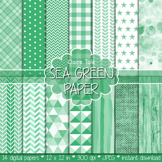 Green digital patterns, Green scrapbooking paper, Green scrapbook pattern, Green backgrounds, Green printable party, Green invitation paper