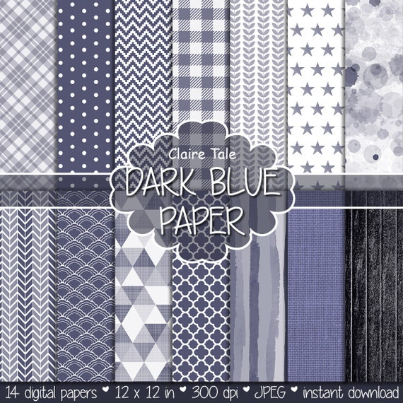 Dark blue digital paper, Dark blue printable pattern, Dark blue scrapbooking paper, Dark blue invitation background, Dark blue pattern