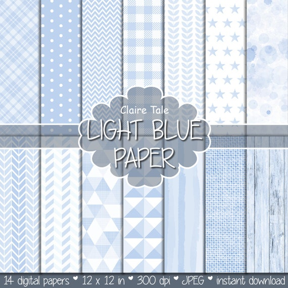 Light blue digital paper, Light blue scrapbooking paper, Light blue printable invitation paper, Light blue background, Light blue patterns