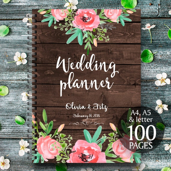 Rustic wedding binder, Printable wedding planner, Floral wedding binder, DIY wedding binder, Wedding checklist,  Wedding to do list