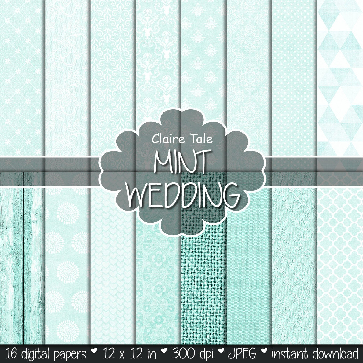 mint wedding paper mint digital paper mint printable background