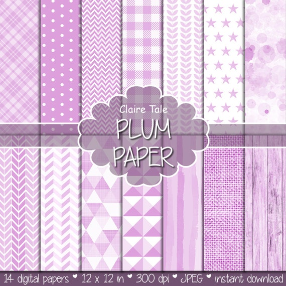 Light plum digital paper, Light plum digital pattern, Light plum background, Plum printable party invitation paper, Light plum scarpbooking