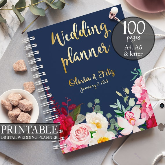 DIY wedding planner, Navy burgundy wedding binder, Printable wedding planner, DIY wedding guide, PDF wedding, Wedding binder, Bridal planner