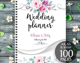 Wedding planner printable, Printable wedding planner, Floral wedding binder, Spring wedding planner, Wedding checklist, Wedding to do list