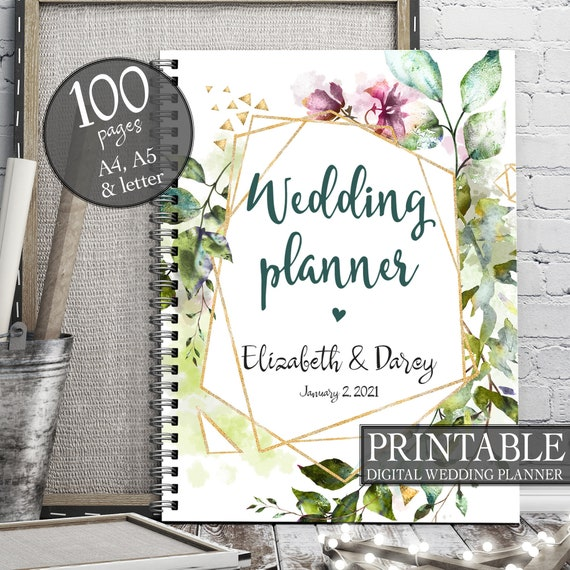 Geometrical wedding planner, Instant download wedding planner, Boho wedding planner, Wedding binder, Wedding organiser, Wedding checklist