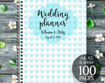 Light blue wedding planner, Light blue printable wedding kit, Light blue wedding binder, Light blue wedding checklist, Wedding organiser