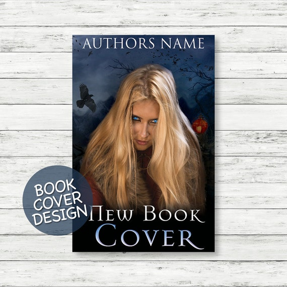 Book cover design / ebook cover / kindle cover / cover design ready for print / mystery novel cover + matching back cover + spine design