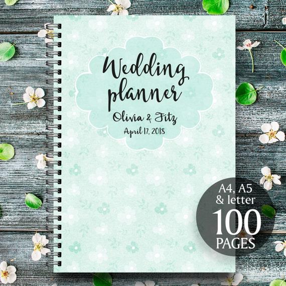 Mint wedding planner, Mint floral planner, Mint wedding checklist, Mint wedding organiser, Mint wedding binder, Printable wedding planner