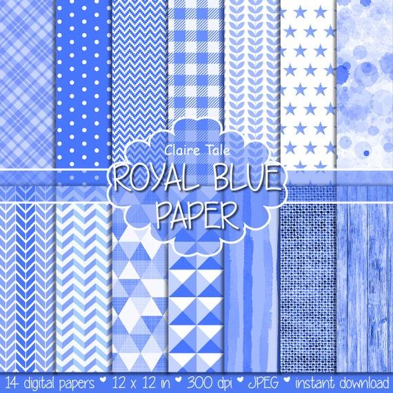 Royal blue digital paper, Royal blue digital patterns, Royal blue scrapbooking paper, Royal blue printable invitation paper, Royal blue wood