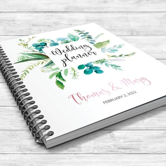 Wedding planner, Greenery wedding planner, Eucalyptus wedding planning book, Greenery binder, Bridal shower gift, Personalised planner