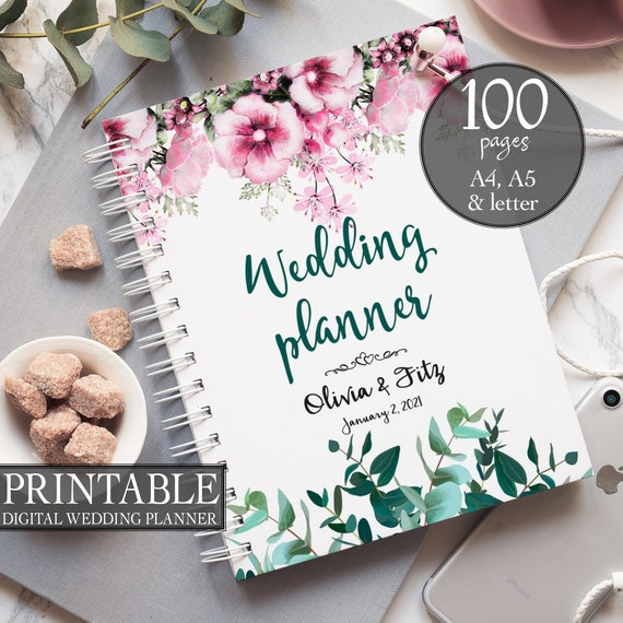 Printable wedding planner, Instant download wedding planner, Spring wedding planner, Wedding binder, Wedding organiser, Wedding checklist