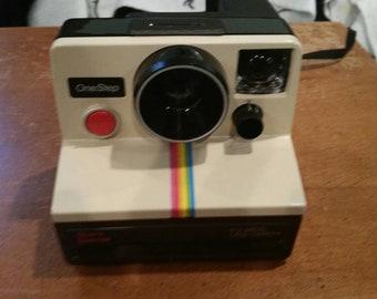 Polaroid SX 70 instant camera rainbow