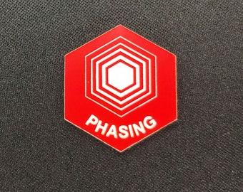Phasing (v1) Token(s) -   Plastic   Laser Engraved   Magic the Gathering (MtG)