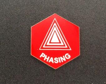 Phasing (v3) Token(s) -   Plastic   Laser Engraved   Magic the Gathering (MtG)